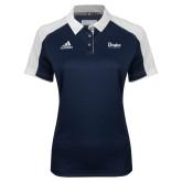 Ladies Adidas Modern Navy Varsity Polo-Drake University