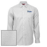 Red House White Diamond Dobby Long Sleeve Shirt-Drake University