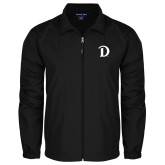 Full Zip Black Wind Jacket-Drake D Logo