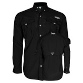 Columbia Bahama II Black Long Sleeve Shirt-Drake University