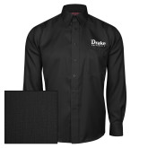 Red House Black Herringbone Long Sleeve Shirt-Drake University