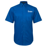 Royal Twill Button Down Short Sleeve-Drake University