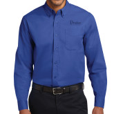 Royal Twill Button Down Long Sleeve-Drake University