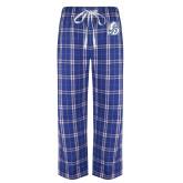 Royal/White Flannel Pajama Pant-D Dog