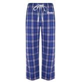 Royal/White Flannel Pajama Pant-Drake University