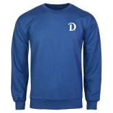 Royal Fleece Crew-Drake D Logo