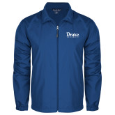 Full Zip Royal Wind Jacket-Drake University