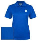 Ladies Royal Dry Mesh Polo-Drake D Logo