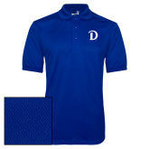 Royal Dry Mesh Polo-Drake D Logo