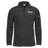 Columbia Full Zip Charcoal Fleece Jacket-Drake University