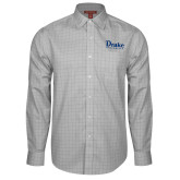 Red House Grey Plaid Long Sleeve Shirt-Drake University