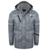 Grey Brushstroke Print Insulated Jacket-D Dog
