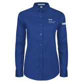 Ladies Royal Twill Button Down Long Sleeve-Robert and Billy Center