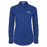 Ladies Royal Twill Button Down Long Sleeve-The Robert D and Billie Ray Center