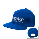Royal Flat Bill Snapback Hat-Drake University