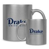 Full Color Silver Metallic Mug 11oz-Drake University