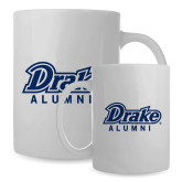 Alumni Full Color White Mug 15oz-Drake Alumni