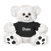 Plush Big Paw 8 1/2 inch White Bear w/Black Shirt-Drake University