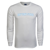 White Long Sleeve T Shirt-Daytona State Arch