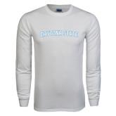 White Long Sleeve T Shirt-Daytona State Arch