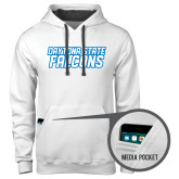 Contemporary Sofspun White Hoodie-Daytona State Falcons Stacked