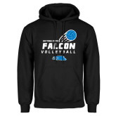Black Fleece Hoodie-Volleyball