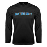 Performance Black Longsleeve Shirt-Daytona State Arch
