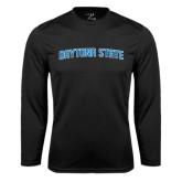 Performance Black Longsleeve Shirt-Daytona State Arch