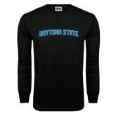 Black Long Sleeve TShirt-Daytona State Arch