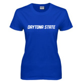Ladies Royal T Shirt-Daytona State