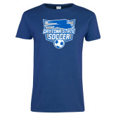 Ladies Royal T Shirt-Soccer