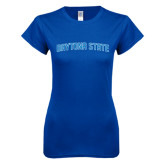 Next Level Ladies SoftStyle Junior Fitted Royal Tee-Daytona State Arch