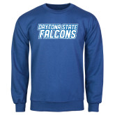 Royal Fleece Crew-Daytona State Falcons Stacked