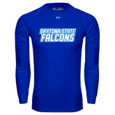 Under Armour Royal Long Sleeve Tech Tee-Daytona State Falcons Stacked