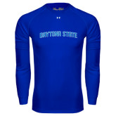 Under Armour Royal Long Sleeve Tech Tee-Daytona State Arch