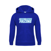 Youth Royal Fleece Hoodie-Daytona State Falcons Stacked