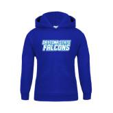 Youth Royal Fleece Hoodie-Daytona State Falcons Stacked