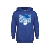 Youth Royal Fleece Hood-Softball
