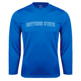 Performance Royal Longsleeve Shirt-Daytona State Arch