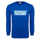 Royal Long Sleeve T Shirt-Daytona State Falcons Stacked