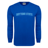 Royal Long Sleeve T Shirt-Daytona State Arch