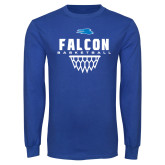Royal Long Sleeve T Shirt-Basketball Net