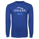 Royal Long Sleeve T Shirt-Softball Laces on Top