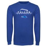 Royal Long Sleeve T Shirt-Softball Laces on Top