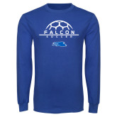 Royal Long Sleeve T Shirt-Soccer on Top