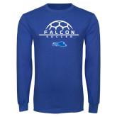 Royal Long Sleeve T Shirt-Soccer on Top