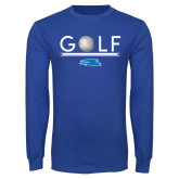 Royal Long Sleeve T Shirt-Golf Underline