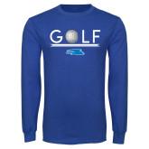 Royal Long Sleeve T Shirt-Golf Underline