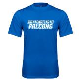 Performance Royal Tee-Daytona State Falcons Stacked