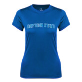 Ladies Syntrel Performance Royal Tee-Daytona State Arch